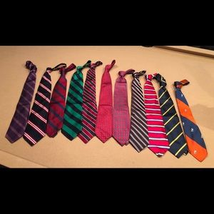 Eleven ties as set